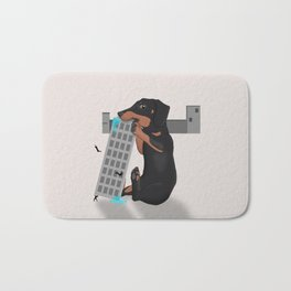 Attack of the Enormous Dachshund!!! Bath Mat