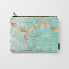 Soft Gradient Aquamarine Carry-All Pouch
