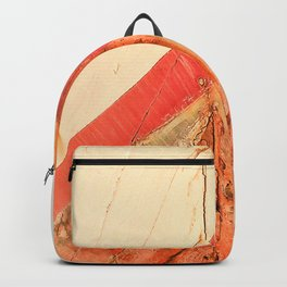 Orange Boat Hull Wooden Boats Fishing Fisherman Seafood Painted Wood Vintage Weathered Nautical Beac Backpack