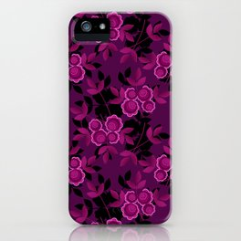 Floral pattern with flowers gzhel iPhone Case