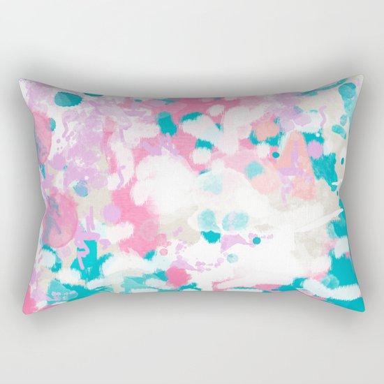 Shaz - abstract painting minimal modern color palette boho nursery home decor Rectangular Pillow
