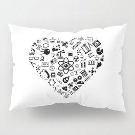 I Love Science | Lab Heart Logic Atheist Pillow Sham