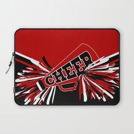 Dark Red Cheerleader Spirit Laptop Sleeve