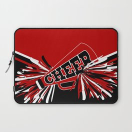 Dark Red Cheerleader Spirit Laptop Sleeve