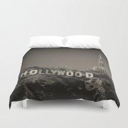 Vintage Hollywood sign Duvet Cover
