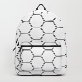 Geometric Honeycomb Pattern - Black #378 Backpack