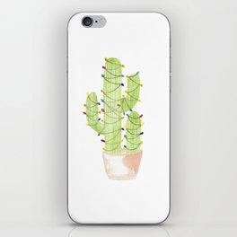 cactus christmas tree iPhone Skin
