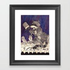 Dapper Raccoon Framed Art Print