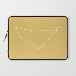 Capricorn Zodiac Constellation - Golden Yellow Laptop Sleeve