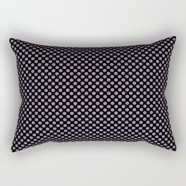 Black and Orchid Mist Polka Dots Rectangular Pillow