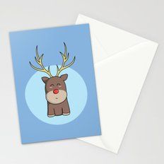 Cute Kawaii Christmas Reindeer Stationery Cards