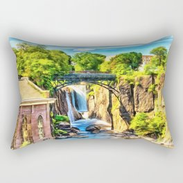Paterson Great Falls in National Historical Park Rectangular Pillow