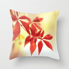 Fiery Creeper Throw Pillow