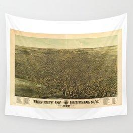 The City of Buffalo, New York (1880) Wall Tapestry