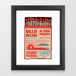 Willie Nelson And Family   Framed Art Print