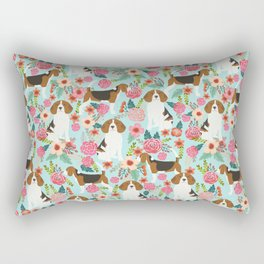 Beagle Floral dog design cute florals beagle phone case beagle pillows Rectangular Pillow
