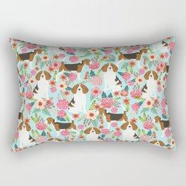 Beagle Floral dog design cute florals beagle phone case beagle pillows Rectangular Pillow