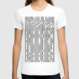 line scan T-shirt