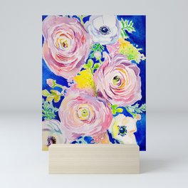Blue Posey Mini Art Print
