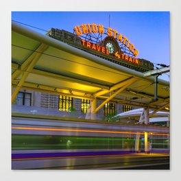 Leaving Union Station - Denver Colorado - Square Format Canvas Print