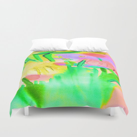 Flowers Sparkle  Duvet Cover