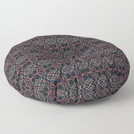 Mint & Coral Hearts Floor Pillow