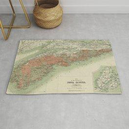 Vintage Geological Map of Nova Scotia (1906) Rug