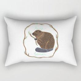 Busy Beaver Rectangular Pillow