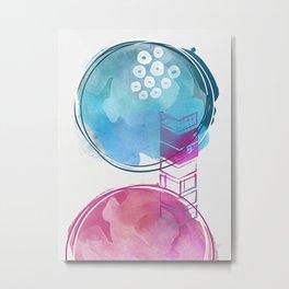 Never Stop Wondering Watercolor Art Metal Print