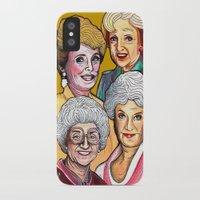 golden girls iPhone & iPod Cases featuring Golden Girls by Minerva Torres-Guzman