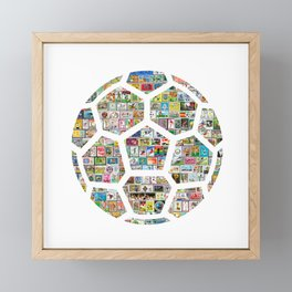 Philately Soccer Ball Framed Mini Art Print