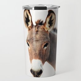 Gentle Wild Donkey portrait Travel Mug