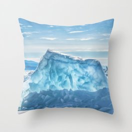 Pressure ridge of lake Baikal Throw Pillow