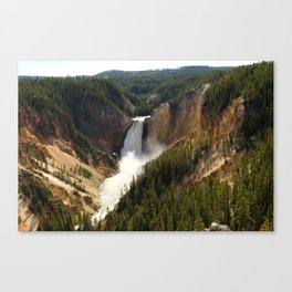 Majestic Upper Falls - Yellowstone Valley Canvas Print