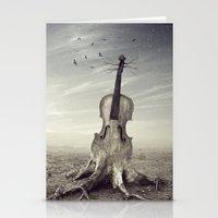 violin Stationery Cards featuring violin by Andrzej Siejeński
