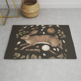 Rabbit's Garden Collection Rug