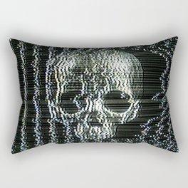 Analogue Glitch Jawless Skull Rectangular Pillow