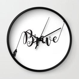 Brave Arrow Brave Warrior Little One Wall Clock