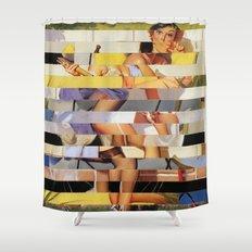 Glitch Pin-Up Redux: Isabella Shower Curtain