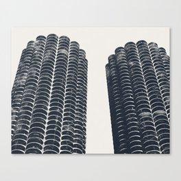 Chicago Architecture, Marina City, Chicago Wall Art, Chicago Art, Chicago Photography, Canvas Art Canvas Print