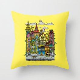 Busy Street Throw Pillow