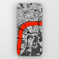 london map iPhone & iPod Skins featuring London Map by Dizzy Moments