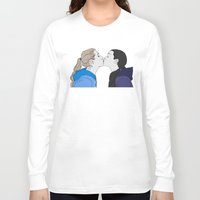 girly Long Sleeve T-shirts featuring Girly kiss by VikaValter