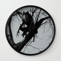 werewolf Wall Clocks featuring Werewolf by Alex Perkins