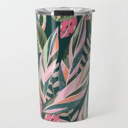 Prayer Plants on Deep Green Travel Mug