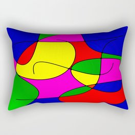ABSTRACT CURVES #1 (Multicolor Bright) Rectangular Pillow