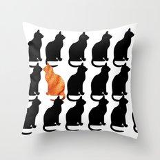 ODD CAT OUT Throw Pillow