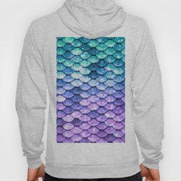 Mermaid Ombre Sparkle Teal Blue Purple Hoody