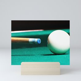 Pool Table-Green Mini Art Print