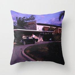 Siesta Hotel Throw Pillow